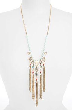 MISSING PIECE Tassel & Seed Bead Necklace available at #Nordstrom