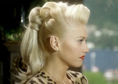 Gwen Stefani rocking the most amazing ponytail in the world, like ever.