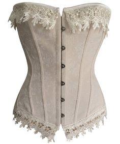 577b9e5515 Stylish Lace Embellished Criss-Cross Corset For Women Gothic Corset