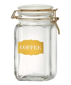 Another great find on #zulily! 'Coffee' Sunrise Glass Canister #zulilyfinds