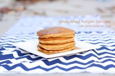 """The Armenian influence has taken over breakfast at our house, so when my family or other """"American"""" guest is over for breakfast – I always sneak in some type pancake, muffin or parfait to satisfy my early-morning sweet tooth. I was excited to make whole-wheat pancakes this morning for my sister, and she suggested trying...Read More »"""