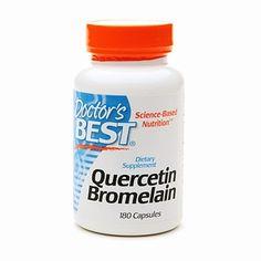Doctor's Best Quercetin Bromelain, Capsules. Sinus Problems, Sinus Relief, Best Doctors, Allergies, Remedies, Nutrition, Natural, Home Remedies, Nature