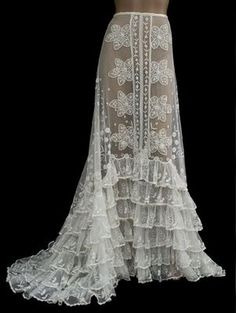 lace panel skirt 1900s