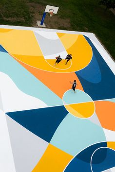 Basketball Court by Gue in Alessandria, Italy