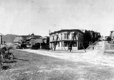 This is an 1889 photo of Haight Street & MArket. Foundsf