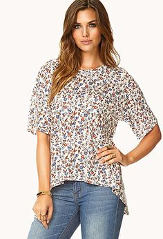 Down-to-Earth Trapeze Tee | FOREVER 21 - 2000112123