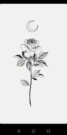 Mini Tattoos, Rose Tattoos, Black Tattoos, Body Art Tattoos, Floral Tattoo Design, Flower Tattoo Designs, Small Flower Tattoos, Small Tattoos, Tattoo Sketches
