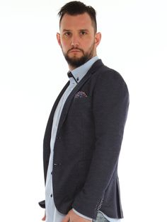 Micro patterned cotton blend jersey slim jacket http://www.luanaromizi.com/en/jackets-blazers-man/micro-patterned-cotton-blend-jersey-slim-jacket.html #Micropatterned #cotton #blendjersey #slimjacket #fashion #style #madeinitaly #altatensione #fbuomo #boutique