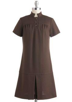 Vintage Mocha Move Dress, #ModCloth