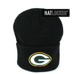 312f377fc3e Mitchell   Ness Green Bay Packers Black Cuff Knit Beanie     39.95 plus  free shipping