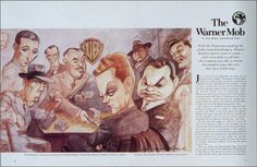 bogart caricatures   Humphrey Bogart, George Raft, Eduardo Giannelli, Jack L. Warner ...