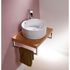 Origins Round Countertop Basin with Overflow. Countertop Bathroom Basins from UK Bathrooms. #Bathrooms #Basin #Modern