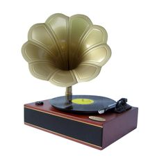 Pyle Classic Horn Phonograph/Turntable With USB-To-PC Connection And Aux-In (Mahogany) Consumer electronic. PYLE.
