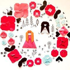 ただいま展示していただいてる白雪姫。NU茶屋町3Fデス(*^^*) 5/5、5/6はライブおりがみイベントしますよ〜〜(^.^) #nu茶屋町 #origami  #papercraft  #paperflower #paperart  #illustration  #snowwhite  #おりがみ #折り紙 #イラスト #ペーパークラフト #ペーパーアート  #お花 #白雪姫  #nucyayamachi  #kawaii #たかはしなな