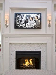 65 best tv mounted above mantle images living room fire places rh pinterest com