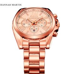 29.98$  Watch now - http://aio7n.worlditems.win/all/product.php?id=32801943071 - 2017 Hannah Martin luxury Brand Gold Watch Woman Ladies Date Day relogio feminino Wome Dress Watches female Clock Montre Femme