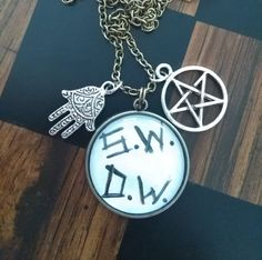 Supernatural Inspired 'S.W. D.W.' Pendent Necklace by AriEagle on Etsy