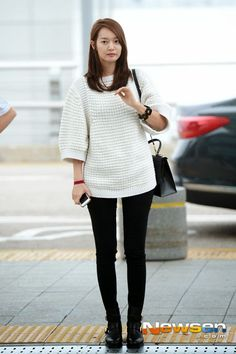 Shin min ah Korean Airport Fashion