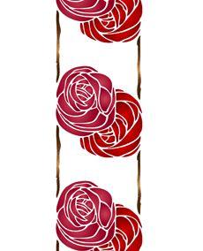 Fris två rosor • återanvändbara schablon till design • handla online på Internet
