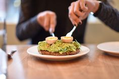 Avocado toast with a soft-boiled egg
