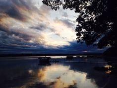 Sunset on Otsego Lake in Gaylord, Michigan