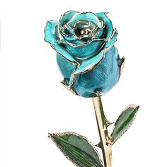 DeFaith Gold Dipped Real Rose, Forever Gifts for Her Anniversary Valentine鈥檚 Day Christmas, Natural Shape and Attractive Luster, Teal Blue with Moon Stand, Valentines Gifts For Her, Valentines Day, Gold Dipped, Casual Chic Style, Natural Shapes, Teal Blue, Artificial Flowers, Luster, Proposal