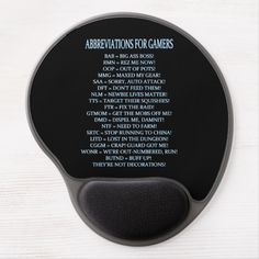 Shop Abbreviations For Gamers MMOPRG Humor Gel Mouse Pad created by BlueRose_Design. Pvp, Art For Kids, I Shop, Humor, Design, Art For Toddlers, Art Kids, Humour