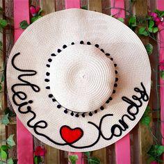 dd15f4555eaf3 Chapéu de palha customizado com nome Chapéu De Palha