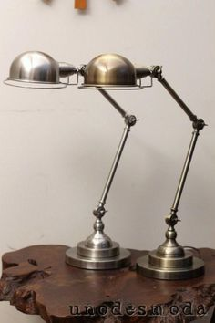 French Jielde vintage industrial table lamps!