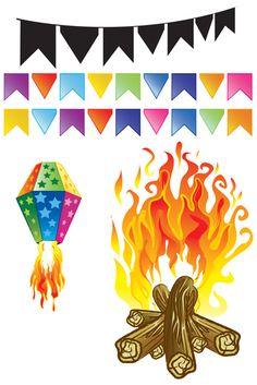 desenho balao festa junina - Pesquisa Google
