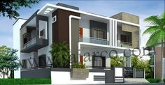 F Exterior House Colors, Exterior Design, Exterior Homes, Exterior Color Combinations, Bedroom Paint Colors, Paint Colours, Beautiful Stairs, Modern House Design, Modern Houses