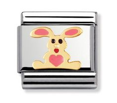 Nomination Stainless Steel, Gold and Enamel White Rabbit Charm at John Greed Jewellery Nomination Charms, Nomination Bracelet, John Greed Jewellery, Pink Rabbit, Clip On Charms, Classic Collection, Gold Material, White Enamel, Gold Bangles