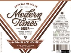 mybeerbuzz.com - Bringing Good Beers & Good People Together...: Modern Times - Mega Black House 22oz Bottles