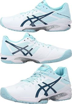 ASICS Women's Gel-Solution Speed 3 Tennis Shoe, White/Blue Steel/Crystal Blue, 8.5 M US