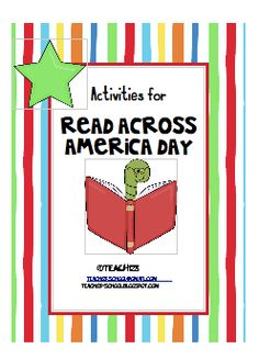 """From TEACH123 - $5 This """"Read Across America"""" unit is packed with too many activities to do in one day. It's a week's worth of fun!"""