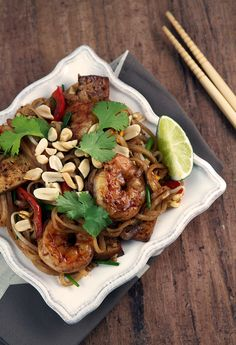 Weeknight Shrimp and Tofu Pad Thai Recipe | Aida Mollenkamp