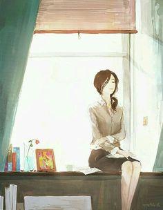 Sometimes we're too focused on big things, neglecting the little thin… # Novel wanita # amreading # books # wattpad Art And Illustration, Style Anime, Character Inspiration, Character Design, Ecchi, Asian Art, Manga Art, Art Girl, Amazing Art