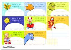 Etiquetas para libros de niños desde el Blog de #Pipo #Exlibris #etiquetas En el BLOG encontraréis el enlace a un PDF de alta CALIDAD para imprimir bien las etiquetas.