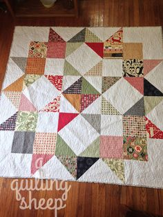 Made with layer cake. The bag lady who made a quiltQuilts I Neglected to Share...Traveling and a Baby QuiltCarpenter Star QuiltHouse Quilt...Sew Sweet BeeModern Building Blocks...My Way! Swoon Sixteen FinishMan Sewing ~ by A Quilting Sheep