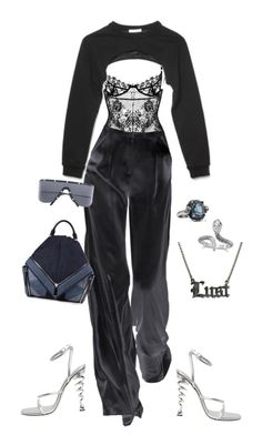 """Untitled #4306"" by kimberlythestylist ❤ liked on Polyvore featuring Givenchy, Porsche Design, Alexander McQueen, Diesel and Hoolala"