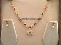 20 Grams Colorful Simple Necklace | Jewellery Designs