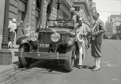 "Shorpy Historic Picture Archive :: The Jazz Driver: 1927 high-resolution photo-AL Jolson and Cadillac touring car at St. Francis Hotel, San Francisco, 1927."" The year he made talkie history in ""The Jazz Singer."" 5x7 glassneg."