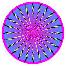 Black and yellow sticks draw you to the center of this colorful optical illusion Les bâtons noirs et jaunes vous … Cool Optical Illusions, Art Optical, Eye Illusions, Image Illusion, Art Fractal, Eyes Game, Mind Tricks, Hippie Art, Psychedelic Art