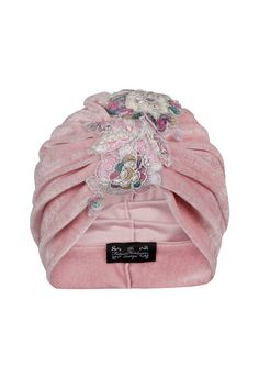 Pale Pink Velvet Turban with Asymmetrical by TheFHBoutique on Etsy, £30.00