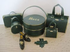 12th Scale Dollshouse 7 Piece Ladies Luggage Set in by 12thCouture