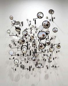 f-l-e-u-r-d-e-l-y-s: Graham Caldwell sculpture. Art Conceptual, Modern Art, Contemporary Art, Instalation Art, Wal Art, Mirror Art, Mirror Ideas, Oeuvre D'art, Sculpture Art