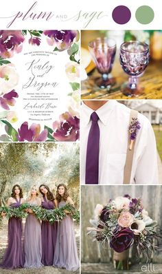 Plum and Sage Wedding Colors