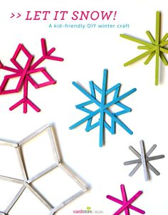 Turn Popsicle sticks into fun and festive snowflakes with this kid-friendly DIY winter craft!