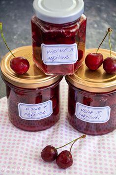 Vișine la borcan pentru prăjituri Jam Recipes, Vegetables, Blog, Vegetable Recipes, Blogging, Veggies