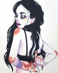 supersonicart: Harumi Hironaka Illustrations.Im into these...